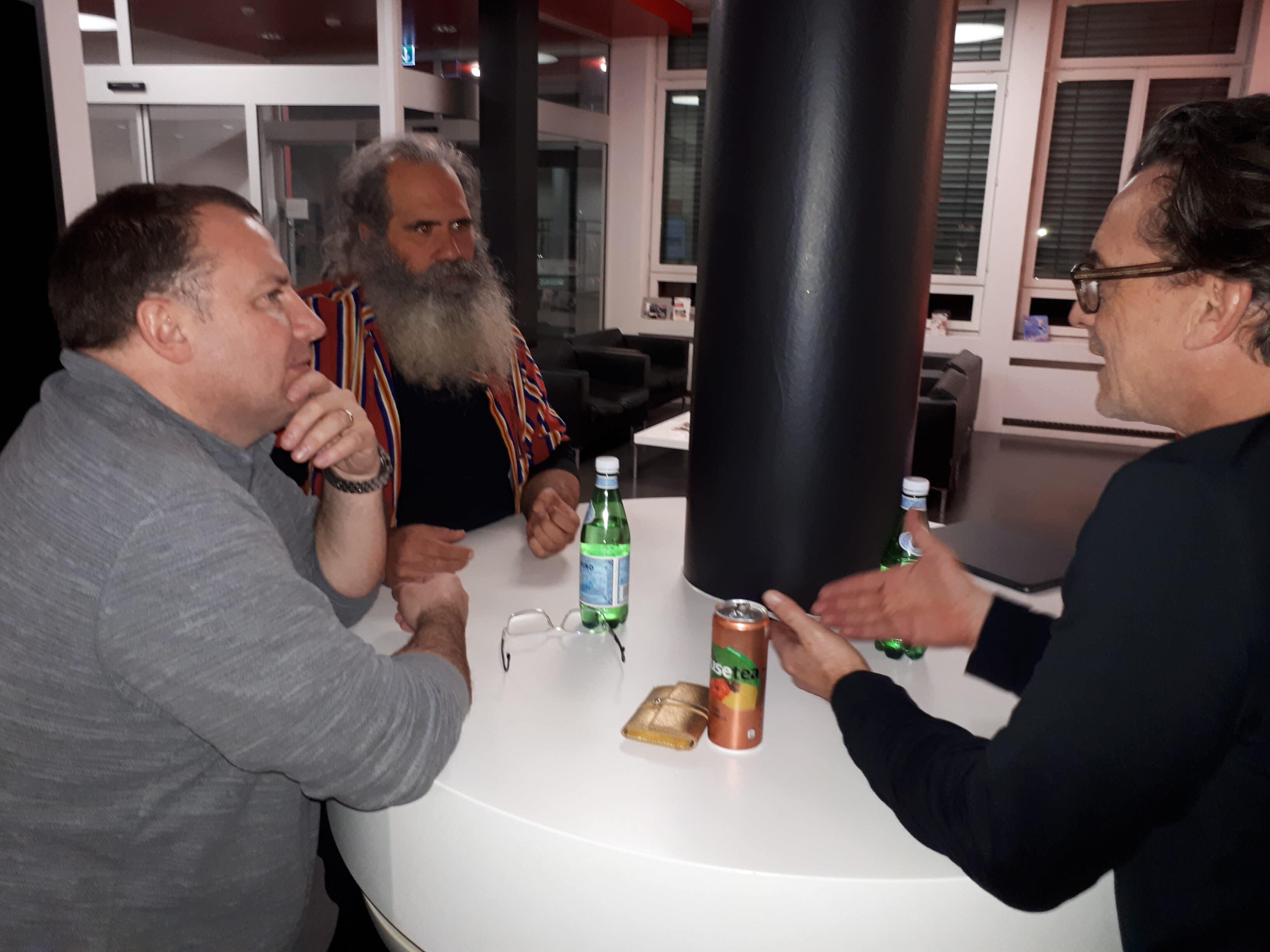 Pause in der Lobby mit Frédéric