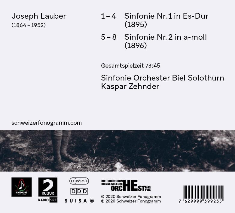 Joseph Lauber (1864 – 1952): Sinfonien Nr. 1 und 2