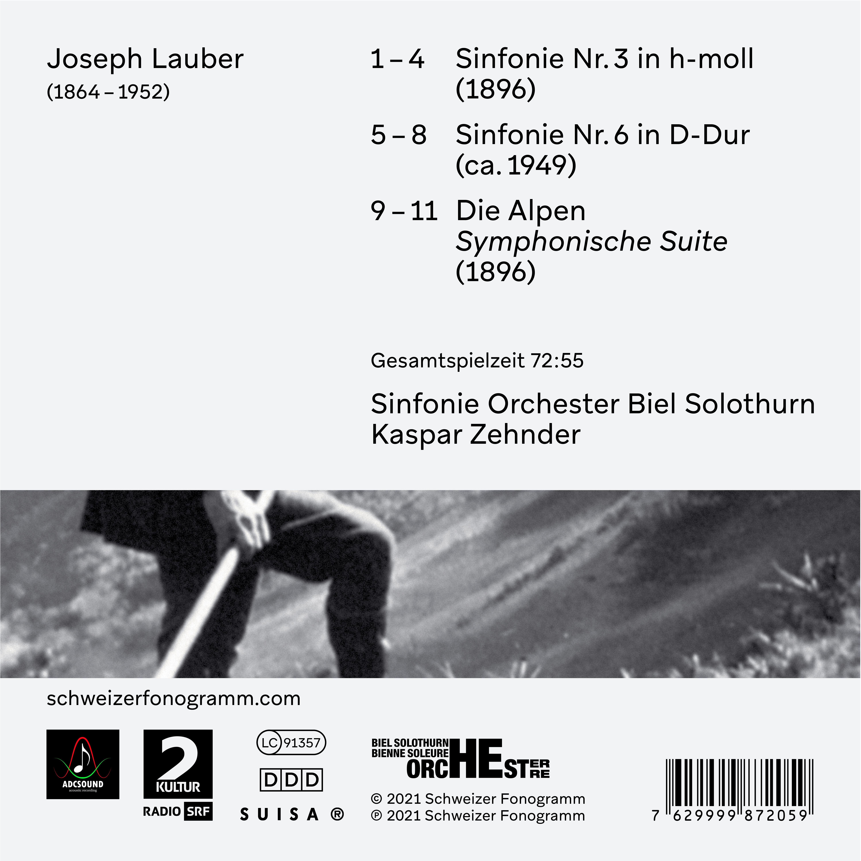 Symphonies no. 3, no. 6 et 'Die Alpen' de Joseph Lauber (1864 – 1952)